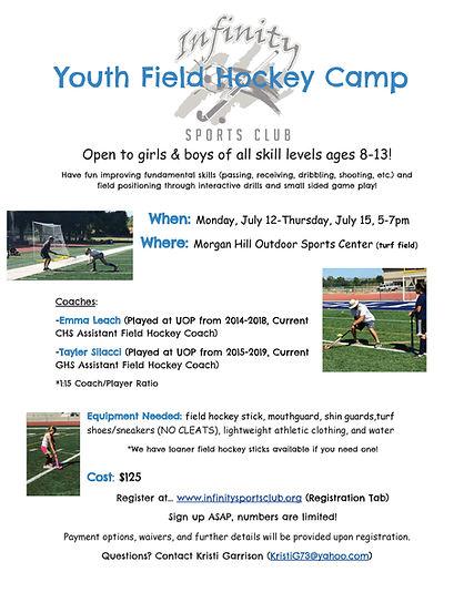 Copy of Infinity Youth Field Hockey Camp