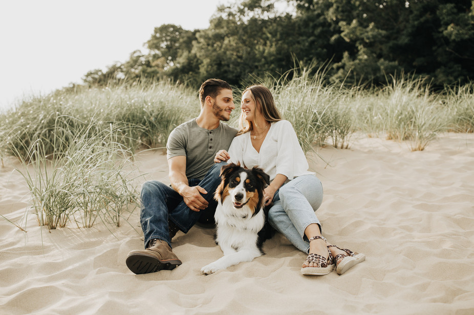Laketown Beach, Holland Engagement