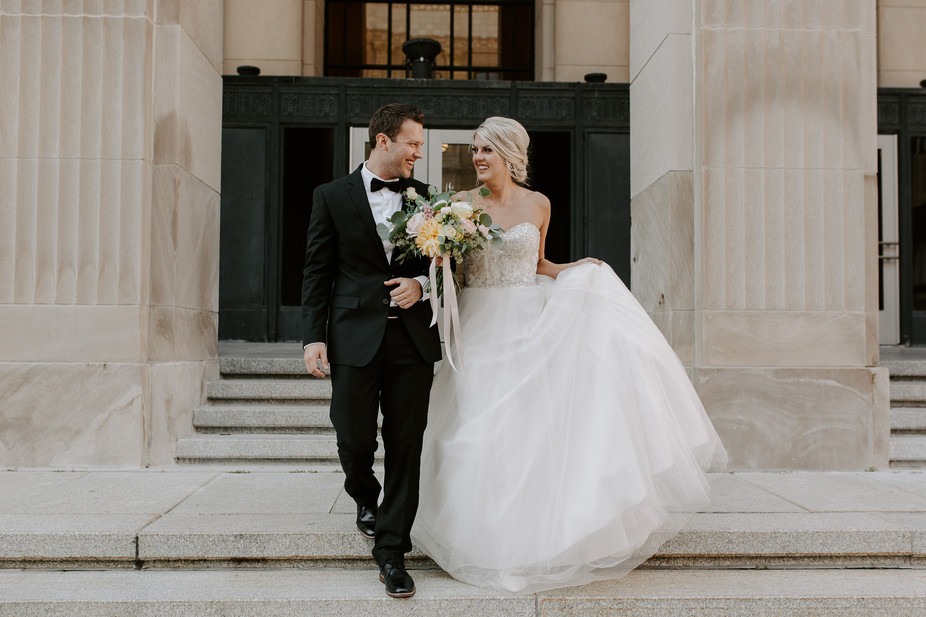 Emily + Matt Dreamy Downtown Wedding