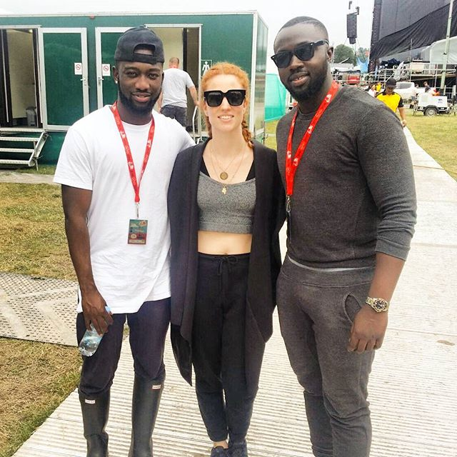 Lovely Lady with a lovely Voice _jessglynne backstage at #vfestival2015