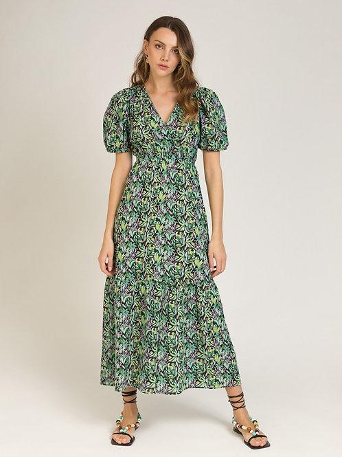 Cotton Printed Long Dress