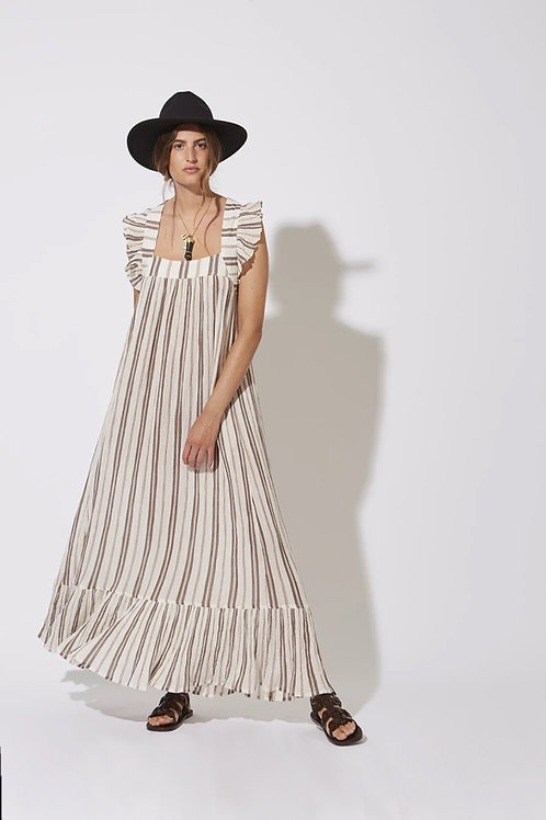 Fillette Dress Ecru Stripes