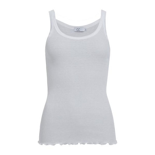 CC Heart Silk Camisole White