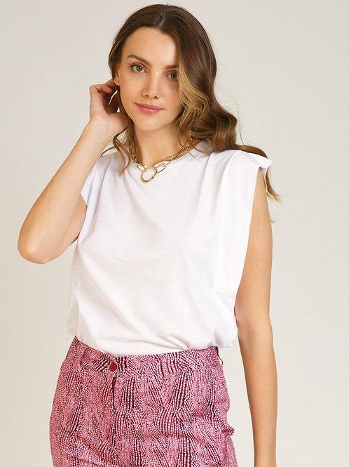 Soft Ruffle Modal/Cotton Top White