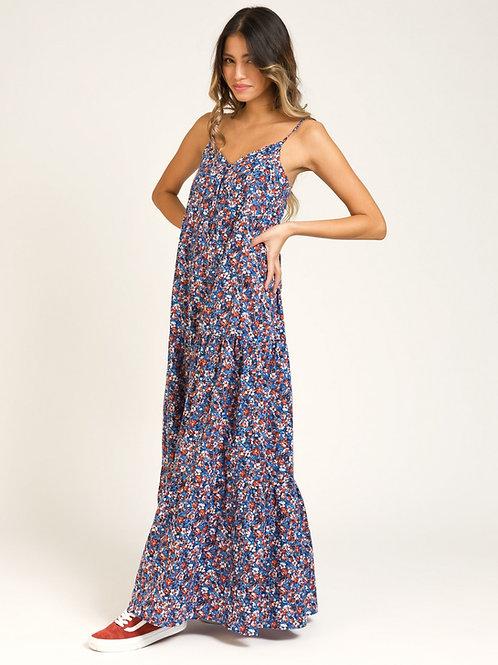 Long Cotton Dress - Blue