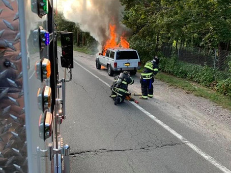 Engine 6 extinguish'sCar Fire