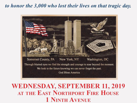 9/11 Service at Headquarters.  All are welcome to attend.