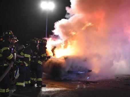 Car Fire on Larkfield Rd.