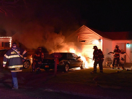 Car Fire Damages Residential Structure