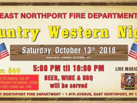 Join us for theCountry Western Night           SaturdayOctober 13th