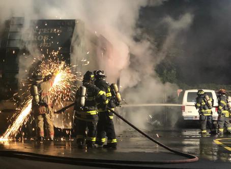 Garbage Truck Fire