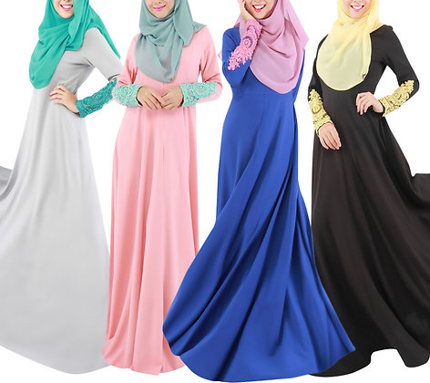 Long Sleeve Abaya Dress