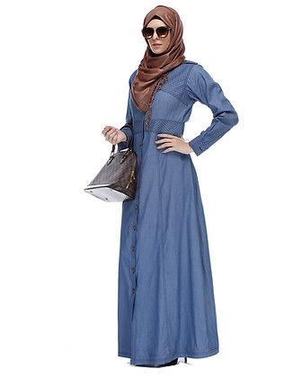 Long Sleeve Denim Abaya