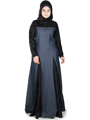 Two Tone Denim Abaya