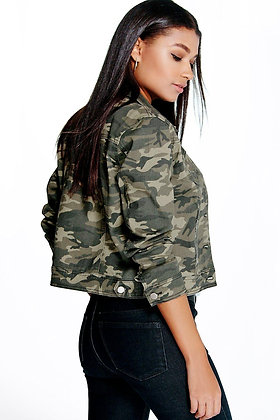 Women's Denim Camo Jacket