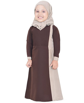 Girls Two-Tone Abaya