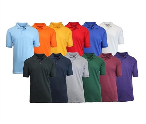 Solid Cotton Polos