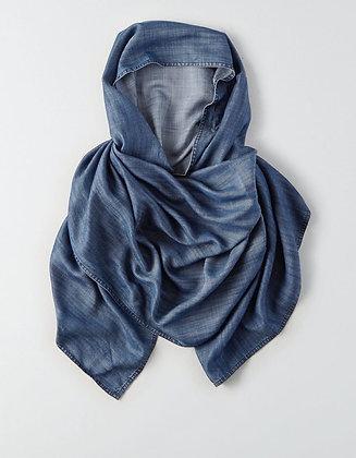 Flowing Denim Hijab