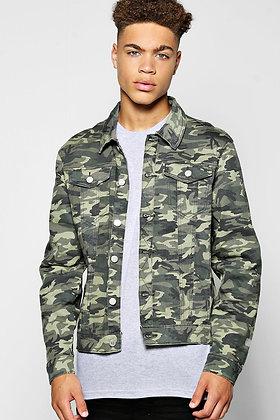 Men's Denim Camo Jacket