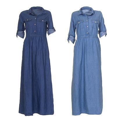 Full Length Denim Dress