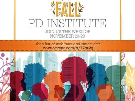 Fall Institute Webinars