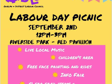 Labour Day Picnic Sept 3