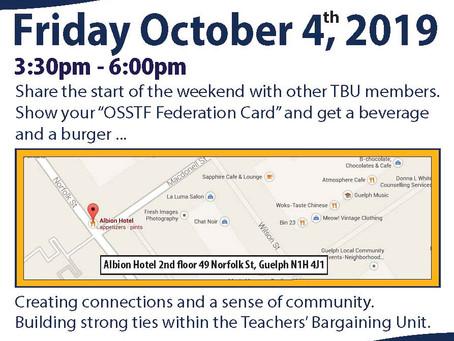 Federation Friday Oct 4th