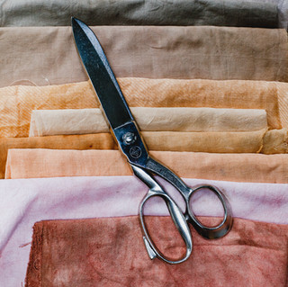 Natural dyed cotton and linen