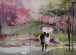 Sus la pluie