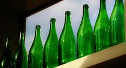 pulizia bottiglie di vino