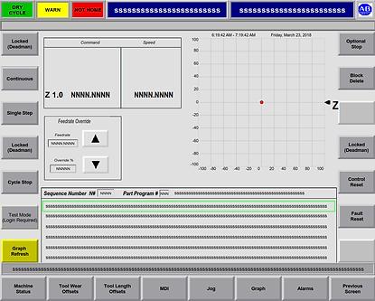 Henshaw PNC CNC Part Tracking Graph