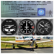 Pilot Certificate, Plane Gauges, Plane