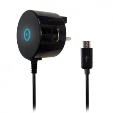 IGLOW MAINS CHARGER MICRO USB 2.1A BLACK