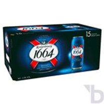KRONENBOURG 1664 LAGER BEER 15 X 440 ML CANS