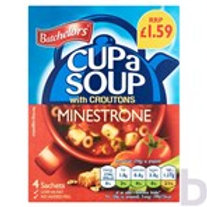 BATCHELORS CUP A SOUP MINESTRONE WITH CROUTONS 4 SACHETS 94 G