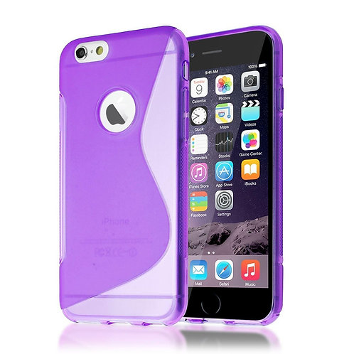 S-LINE GEL BACK CASE SKIN COVER FOR IPHONE 6/6S IN PURPLE