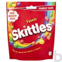 SKITTLES FRUITS SWEETS FAMILY SIZE POUCH BAG 196 G