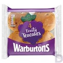 WARBURTONS 4 FRUTY TEACAKES
