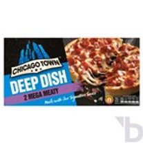 CHICAGO TOWN 2 DEEP DISH MEGA MEATY PIZZAS (320G)