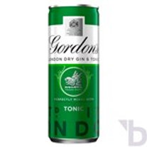GORDONS LONDON DRY WITH TONIC 250 ML READY TO DRINK PREMIX CAN