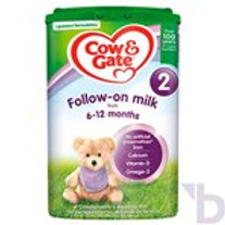 COW & GATE 2 FOLLOW ON MIL FROM 6 - 12 MONTHS