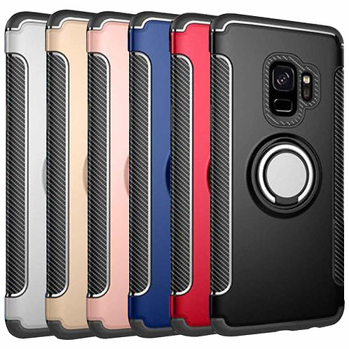 HYBRID MAGNETIC RING HOLDER PHONE CASE HARD COVER FOR SAMSUNG GALAXY S9 PLUS
