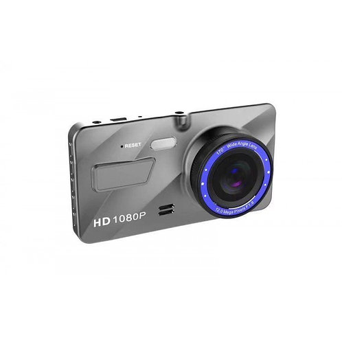 """DASH CAM NEW DUAL LENS FULL HD 1080P 4"""" IPS FRONT+REAR BLUE MIRROR NIGHT VISION"""