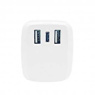 ANG TC67 3.1A DUAL USB & TYPE-C PD FAST CHARGER 18W