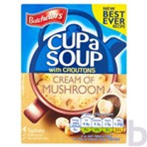 BARCHELORS CUP A SOUP CREAM OF MUSHROOM WITH CROUTONS 4 PACK 99 G