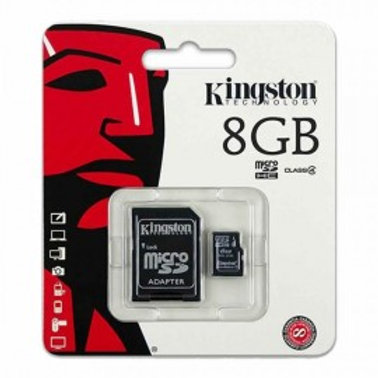 KINGSTON MICRO SD MEMORY CARD 8GB