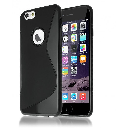 S-LINE GEL BACK CASE SKIN COVER FOR IPHONE 6 PLUS / 6S PLUS IN BLACK