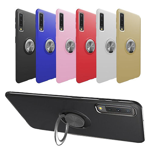 RING TPU PHONE CASE WITH RING HOLDER FOR SAMSUNG GALAXY A7 2018 SM-A750