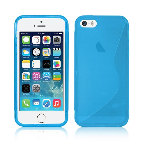 S-LINE SOFT SILICON GEL CASE FOR IPHONE 5/5S IN BABY BLUE