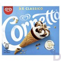 CORNETTO CLASSICO ICE CREAM CONES 6 X 90 ML